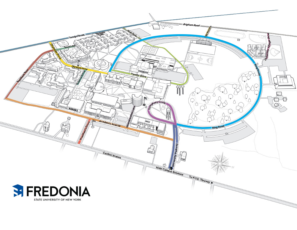 Campus Street Map Fredonia Edu