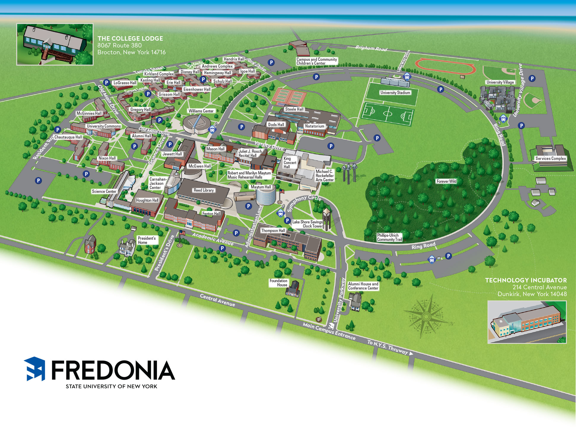 Jackson College Campus Map.Visit And Tour Fredonia Edu