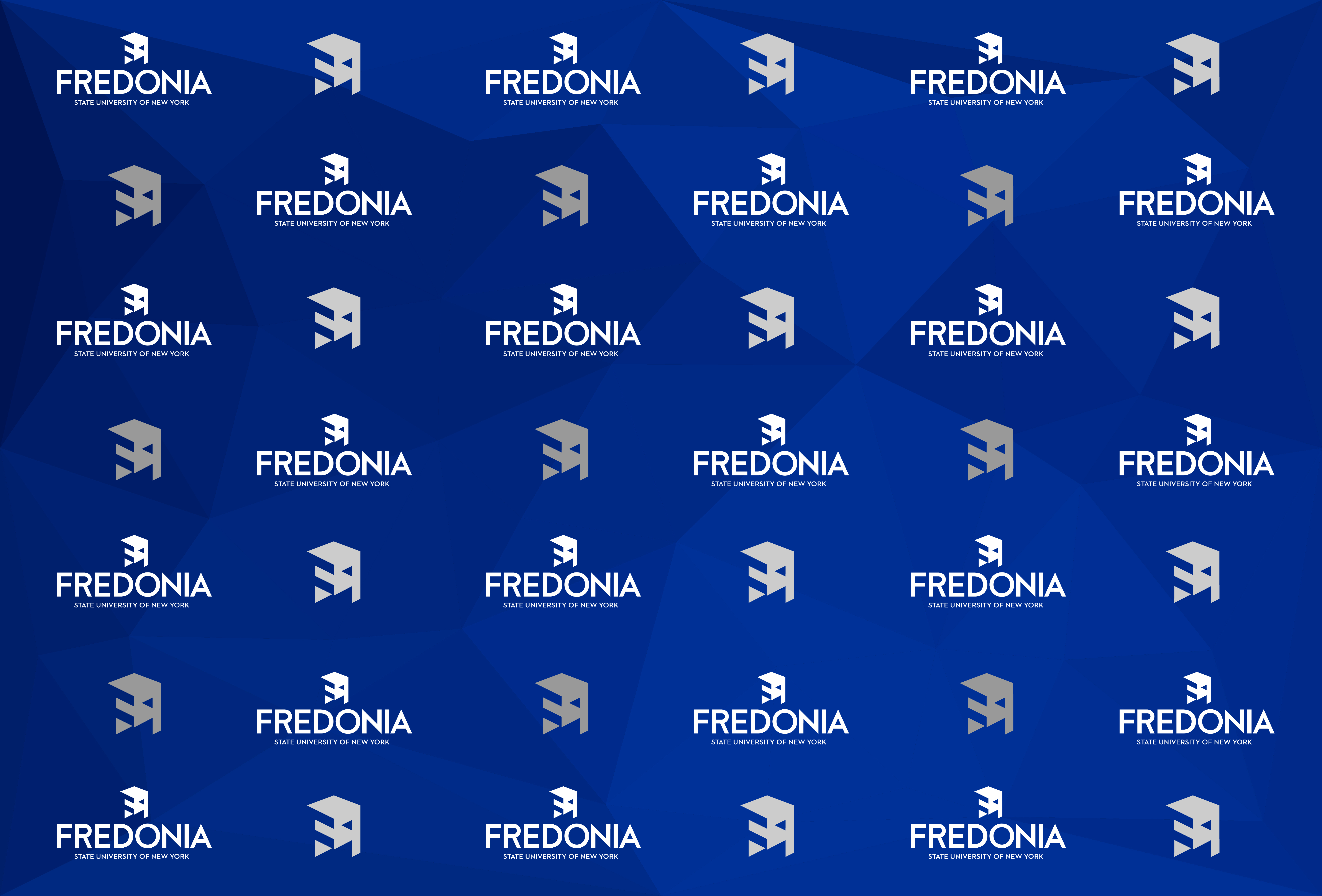 virtual background - Fredonia blue