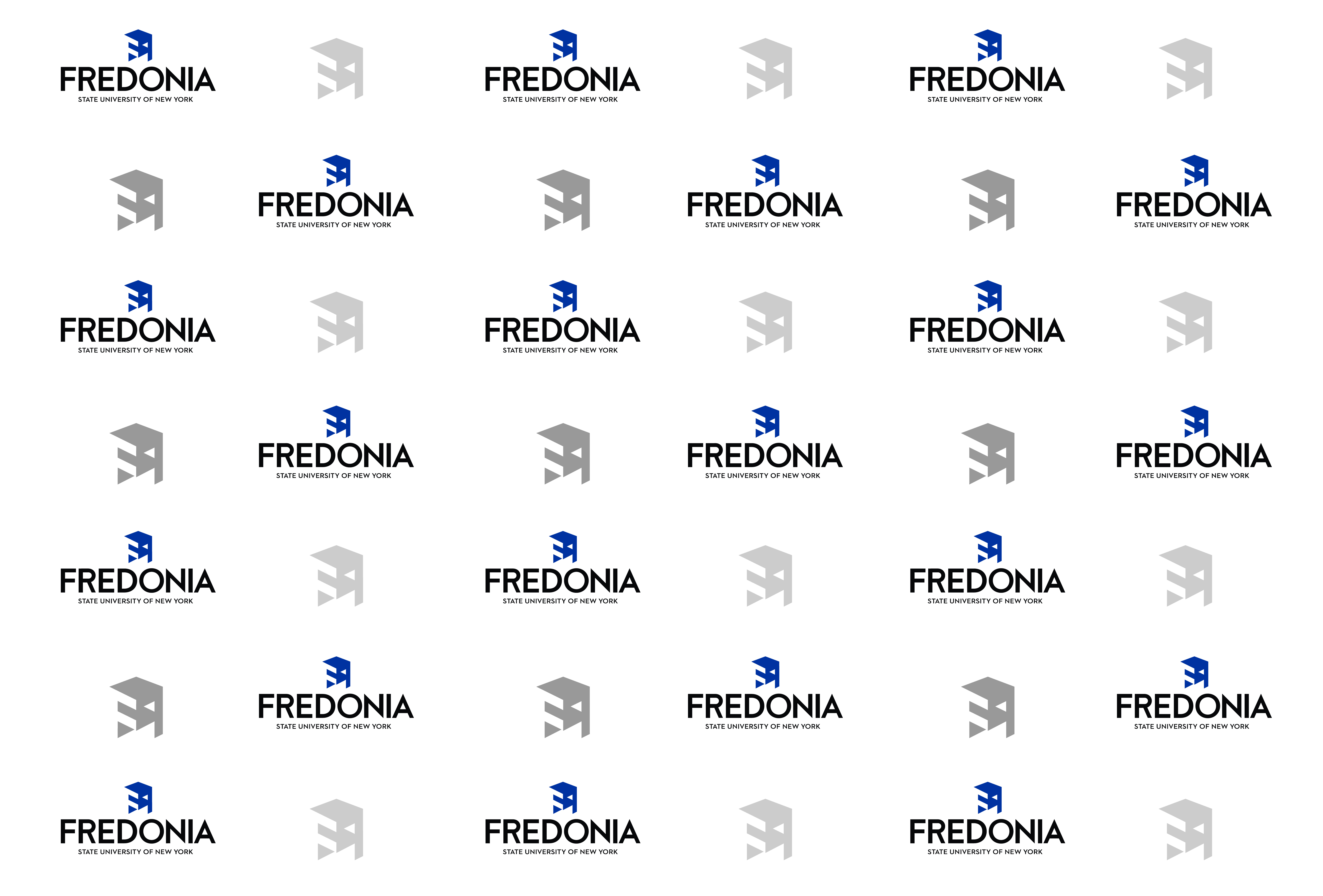 virtual background - Fredonia white