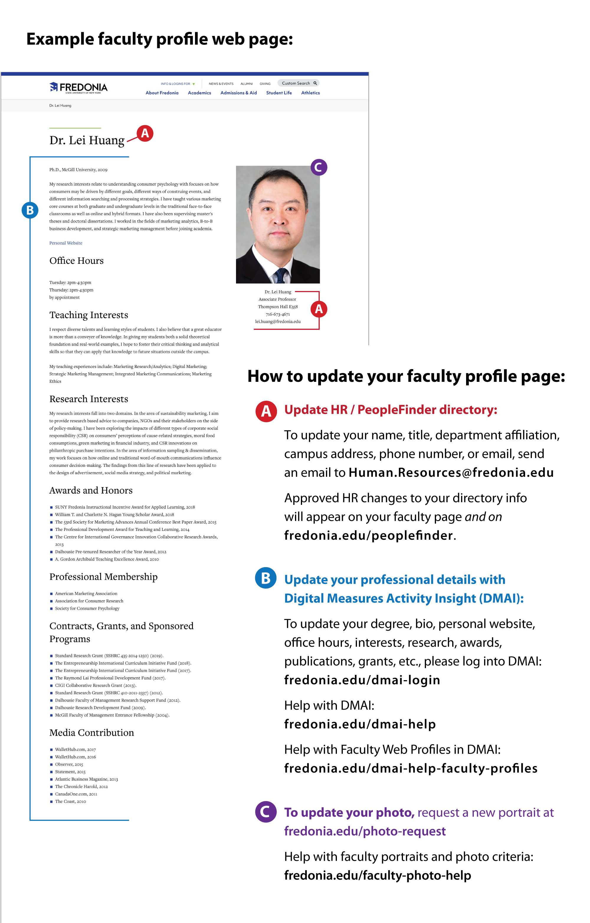 Sample faculty web profile