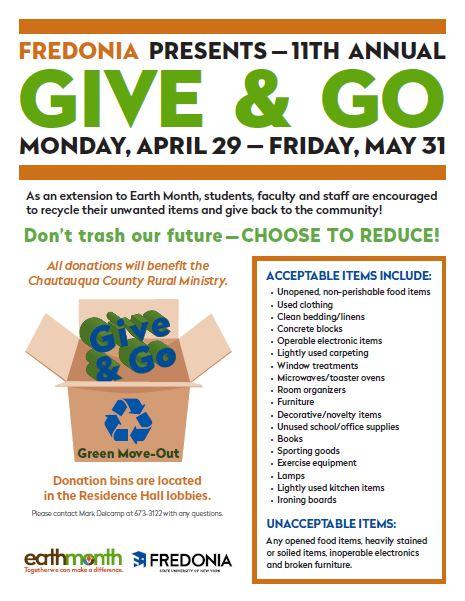 Give & Go | Fredonia edu