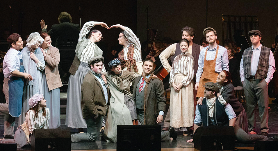 "The cast of ""My Fair Lady in COncert"""