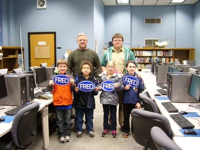 Cub Scouts visiting the department