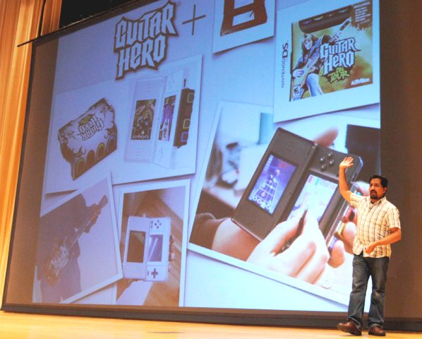Karthik Bala, Guitar Hero Developer, Visits Fredonia