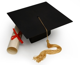 Mortar Board and Diploma