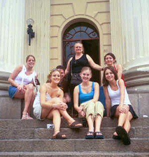 Students studying abroad in Brazil