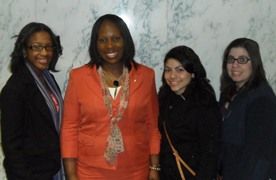 NYS Assemblywoman Vanessa Gibson with Rachael, Krystal, and Nicole