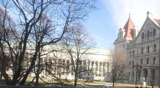 The State Capitol Building in Albany, NY