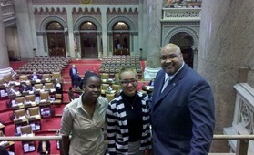 Lash, Margaret, and Mr. White - Inside the NYS Assembly