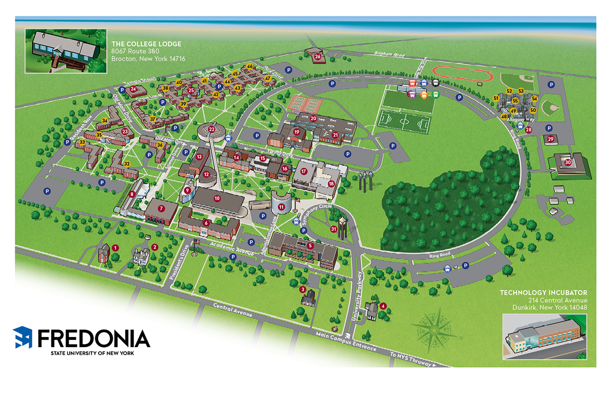 Lake Erie College Campus Map.Visit Fredonia Fredonia Edu
