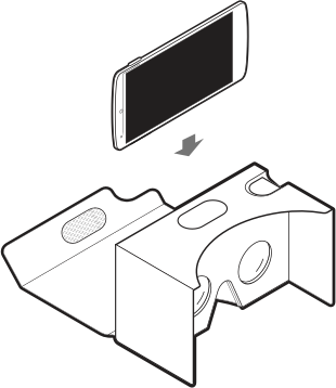 how to insert phone into Google cardboard