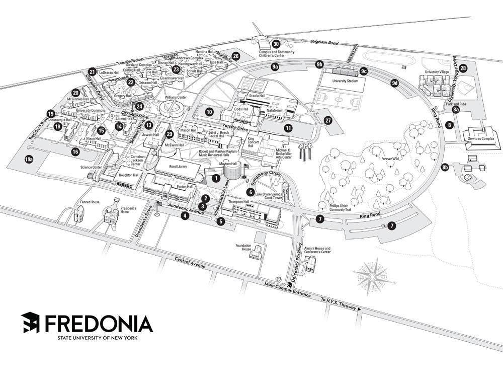 Parking Lot Map   Fredonia.edu
