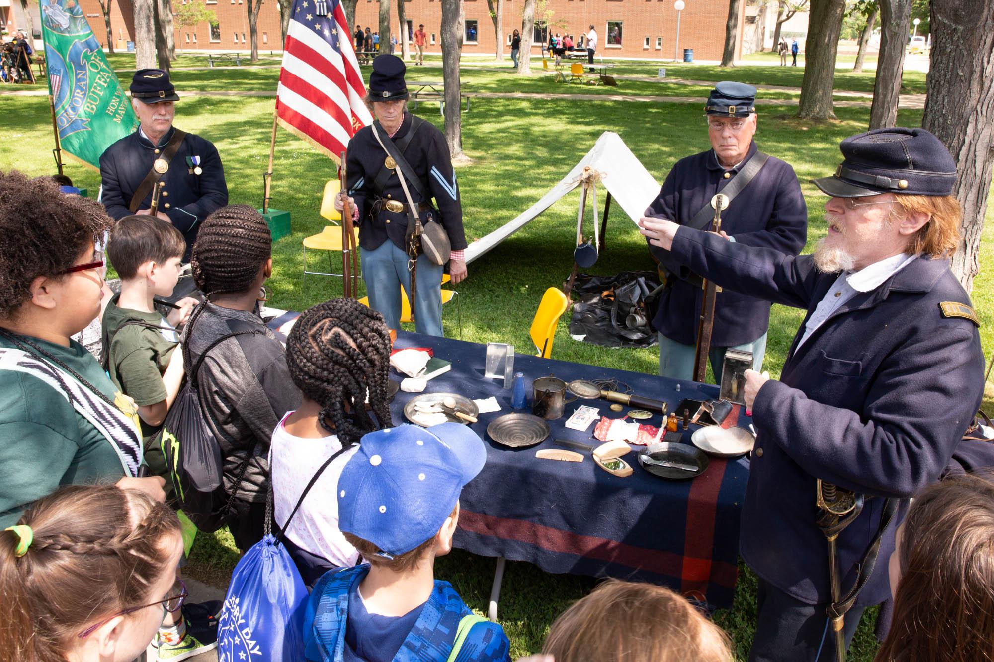 Reenactors at Living History Day