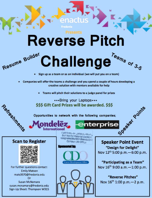 Poster for Reverse Pitch 1 event