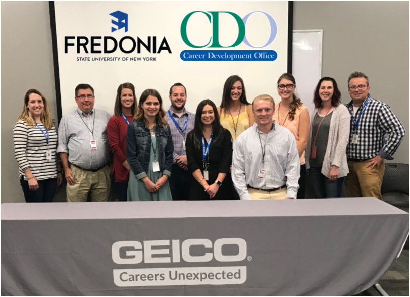 Fredonia students visit Geico at their facility to network with employers and alumni
