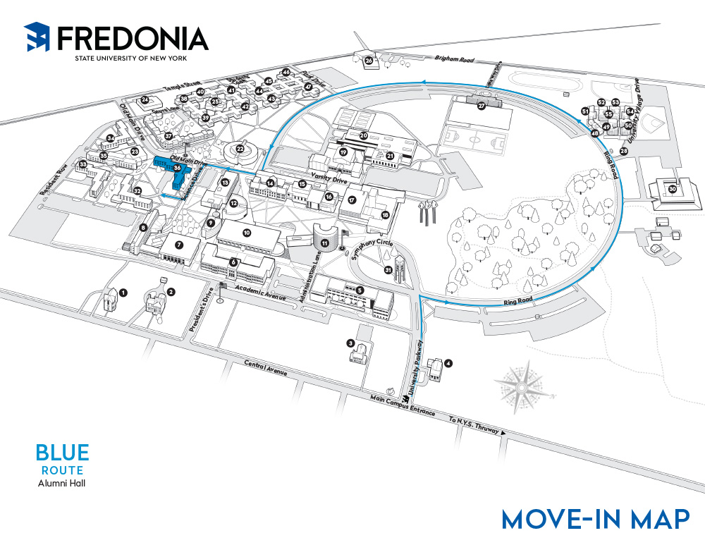 Move In Maps   Driving and Parking   Fredonia.edu