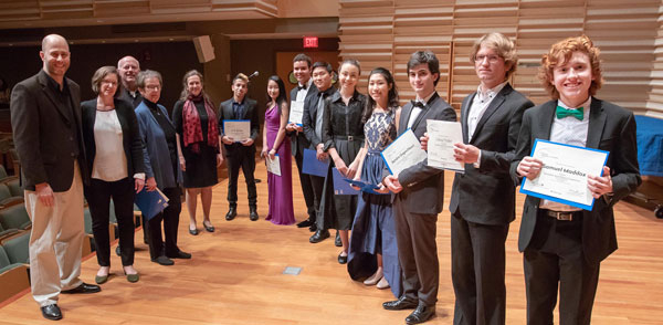 2018 Sorel Piano Competition finalists and judges