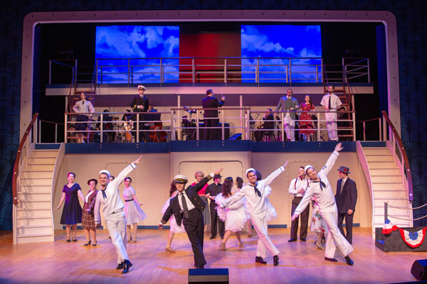 cast of Anything Goes on stage