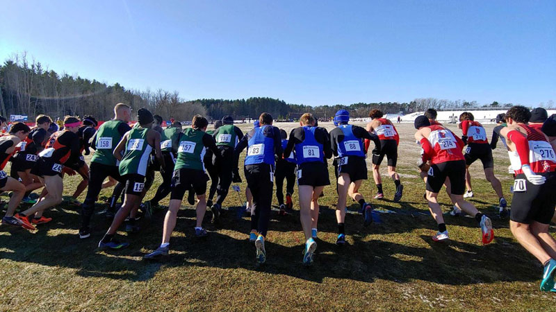 Fredonia runner take off in their 19th place finish at the 2019 Atlantic Regional