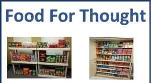 Cans of food on shelves