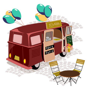 graphic of food truck