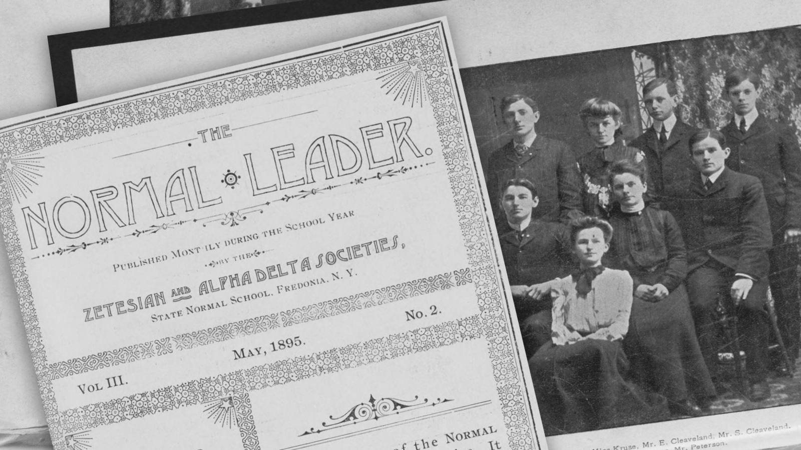 The Normal Leader school newspaper from 1895.