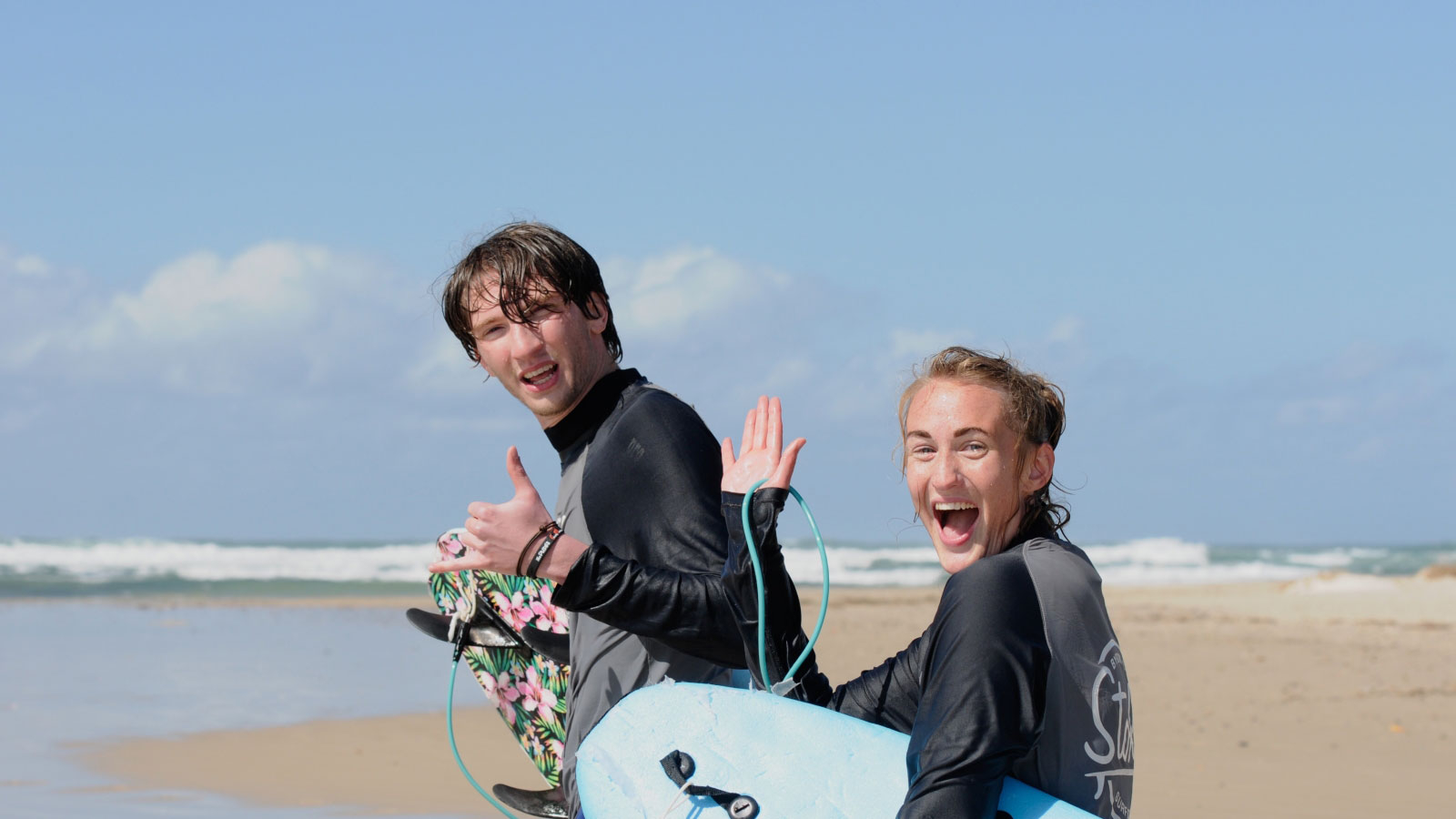 a fredonia student goes surfing while studying abroad