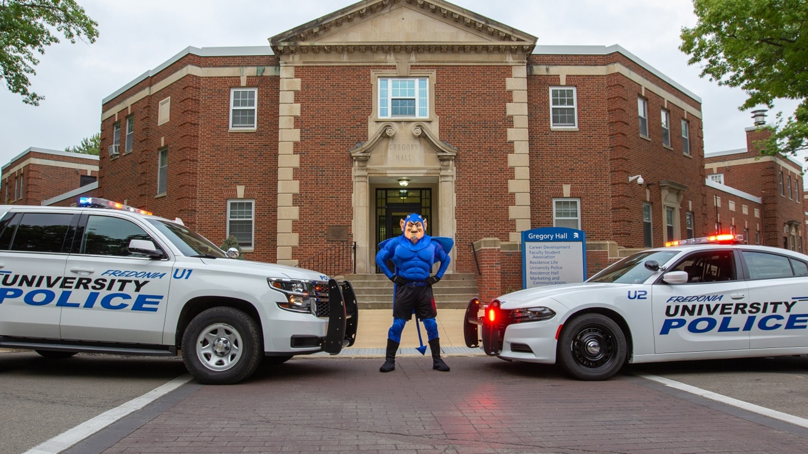 Police cars and Freddy