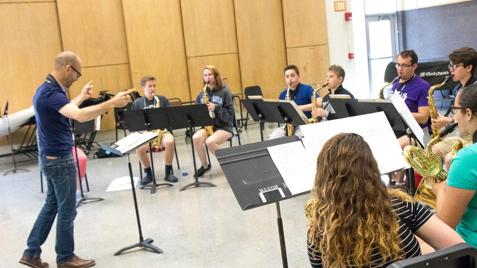 Summer Music Rehearsal in Mason Hall