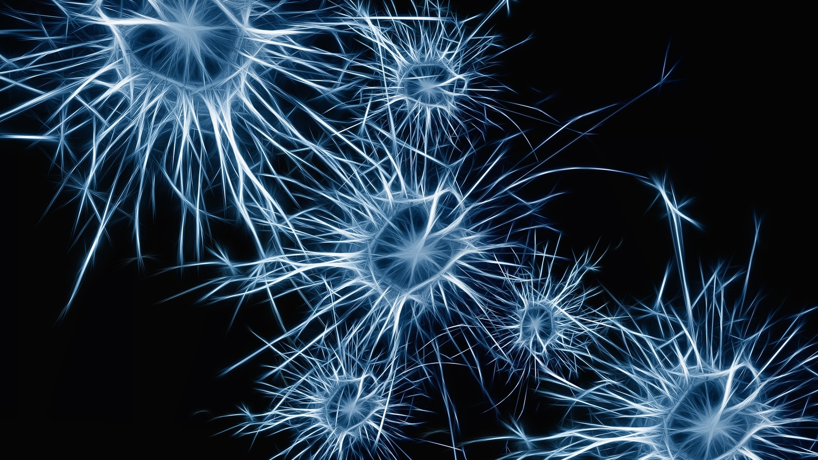 Lighted Blue Neurons