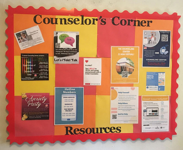 bulletin board with information