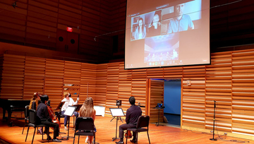 virtual workshop with string players