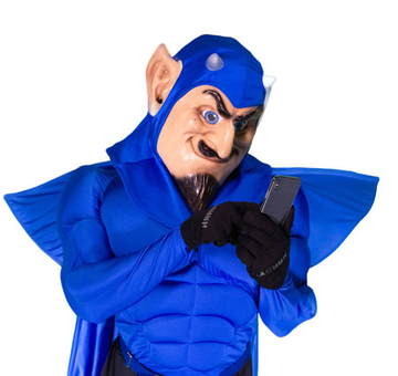 Freddy Blue Devil mascot