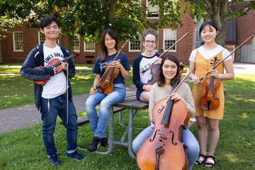 Photo of international students attending Castleman Quartet Program.