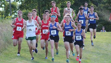 Aidan Pollard (42) was Fredonia State's top finisher during the men's 6k Saturday.