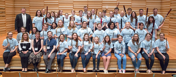 students attending Double Reed Day in 2017