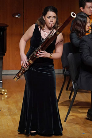 Marisa Esposito performing in the Meg Quigley Vivaldi Competition
