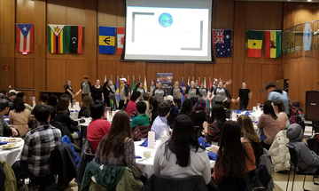 A scene from a recent Global Banquet in the Williams Center Multipurpose Room