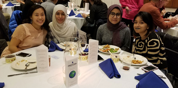 students attending banquet