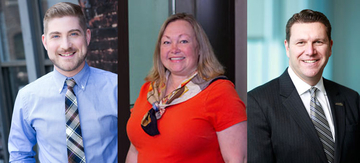 Homecoming honorees (from left) include Brian Usifer, '03; Dr. Deborah Good, '87, and Dr. Thomas Quatroche Jr., '92.