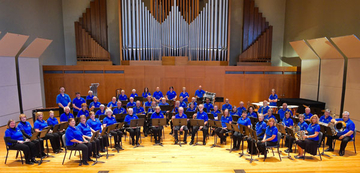 New Horizons Band members in King Concert Hall