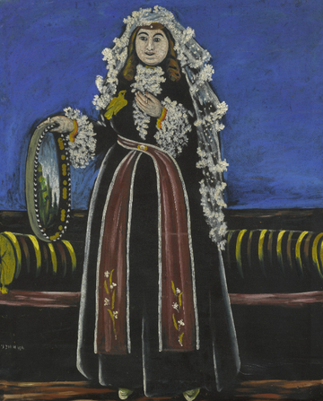Georgian Woman Wearing a Lechaki by Niko Pirosmani