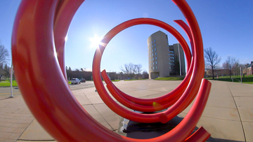 photo of sculpture on campus
