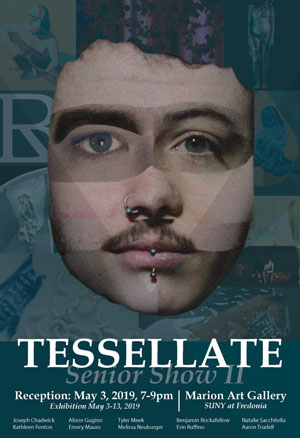 The exhibition poster for Tessellate, which opens May 3, was designed by Benjamin Rockafellow.