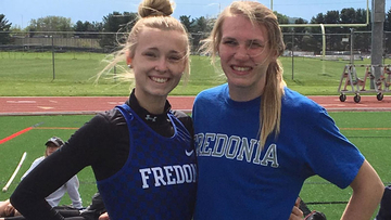 Cassie Serafin (left) and Maddie Sohl