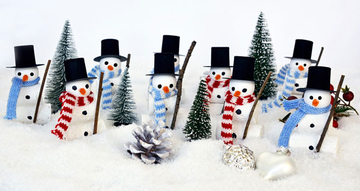 fun photo of snowmen