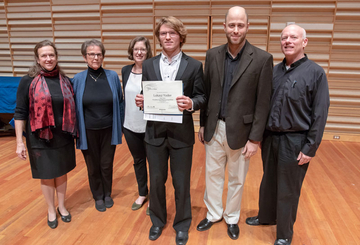 Lukasz Yoder with School of Music faculty judges