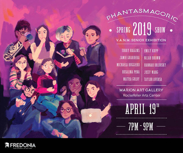 "The poster for the spring 2019 senior exhibition ""Phantasmagoric"""