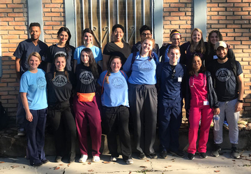 Students who traveled to Honduras as part of the medical brigade.